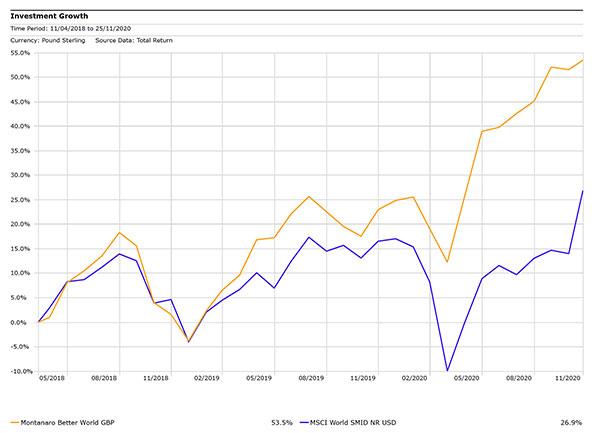 Montanaro performance chart (Nov 2020)